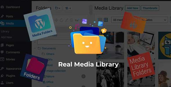 افزونه وردپرس مدیریت پیشرفته کتابخانه رسانه | Real media library